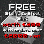 Christmas offer of stainless steel sink