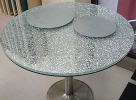 Crushed Glass Table