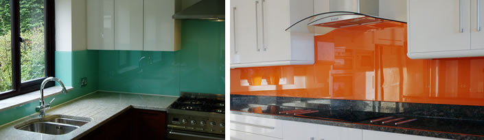 Orange and Green Glass Splashbacks
