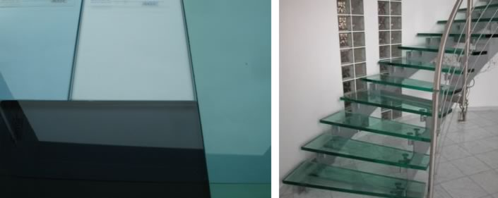 Tinted Glass and stairs