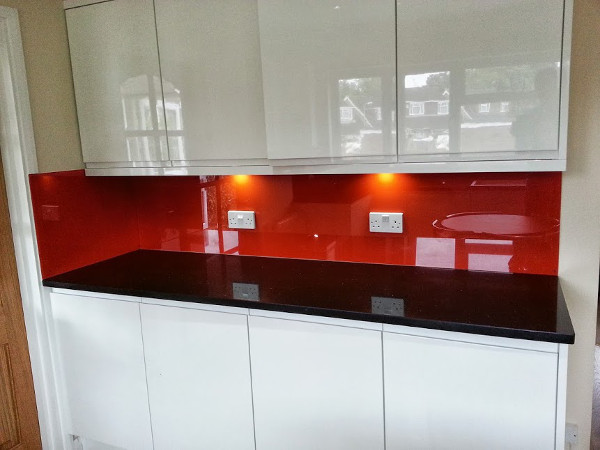 Various painted glass installations