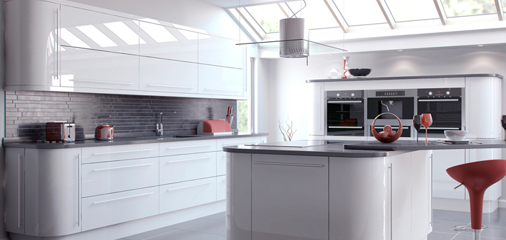 Custom built made to measure kitchens any shape any for Kitchen designs high gloss