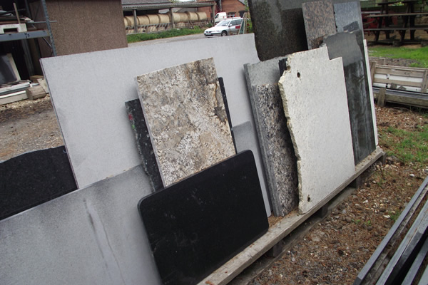 Various granite worktop offcuts