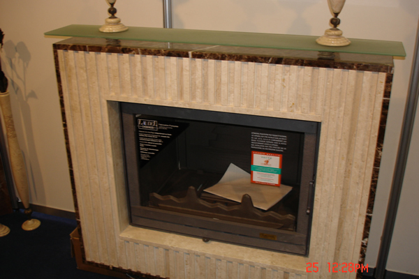 Fireplace made from offcuts