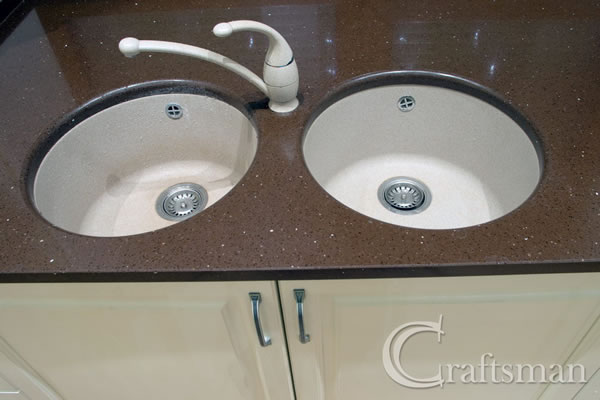 New worktop, sinks and taps
