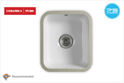 ETROUNO 325U C Ceramic Sink - Undermount ceramic bowl