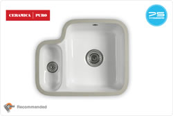 ETRODUO 343/136U C Sink - Undermount ceramic bowl