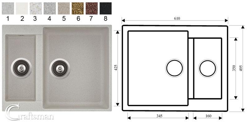Composite Granite Kitchen Sinks and Taps - Craftsman Ltd Reading ...