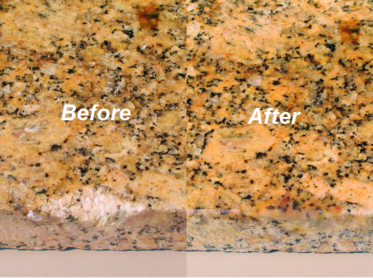 Stone and granite worktop repair and renovation for Marble filler repair
